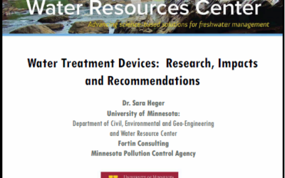 Evaluating Impacts of Water Treatment Devices