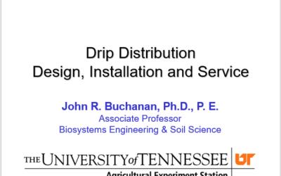 Sub-Surface Drip Dispersal Design & Installation