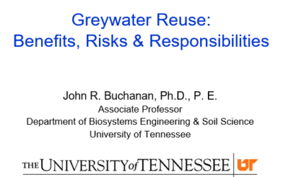 Greywater Reuse: Benefits, Risks and Responsibilities