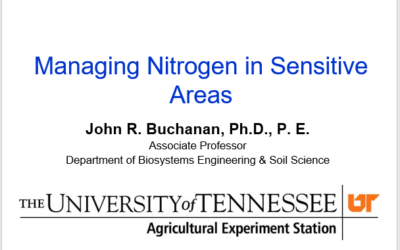 Managing Nitrogen in Sensitive Areas in PA