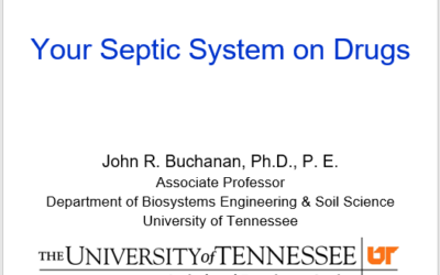 Your Septic System on Drugs – Pharmaceuticals in Wastewater