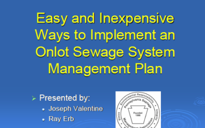 Township Toolbox for Sewage Management